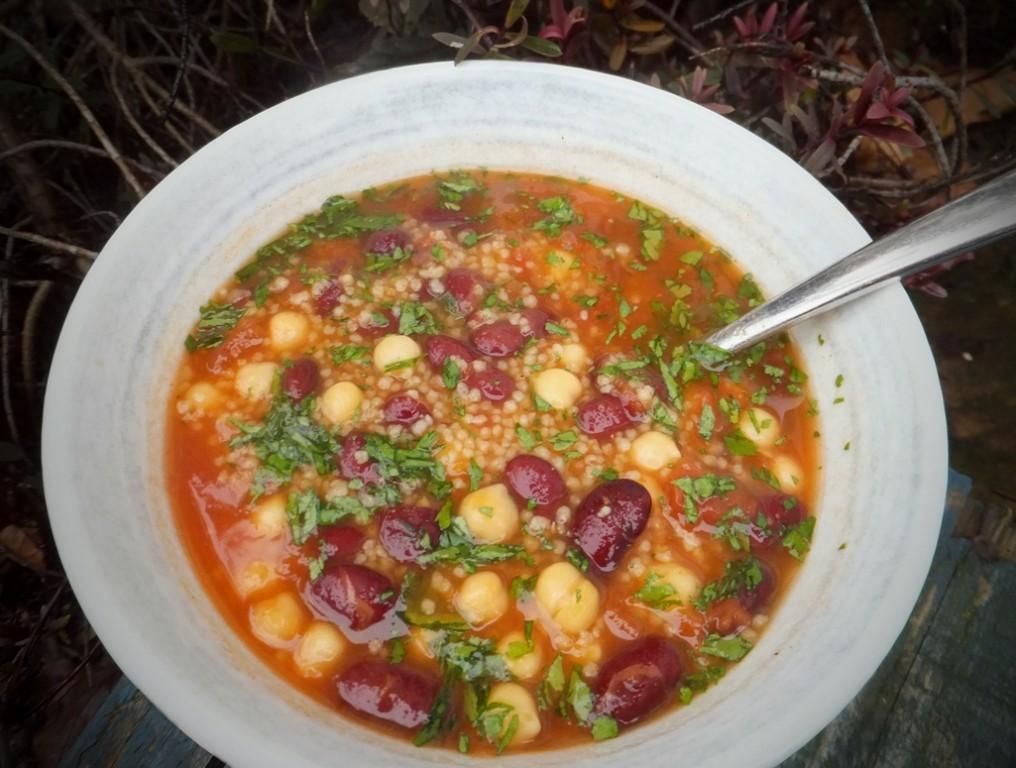 Spicy Cream Of Garbanzo Soup Recipe — Dishmaps