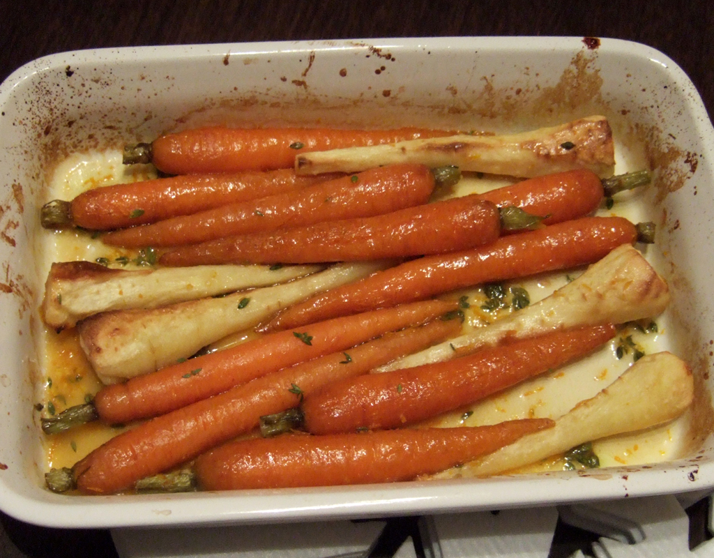 Roasted carrots and parsnips with maple and orange glaze ...
