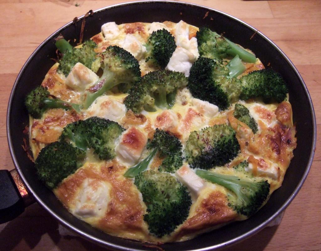 Sweet potato, broccoli and feta frittata - CookTogether
