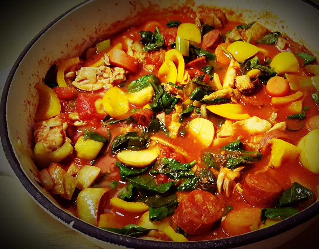 Leftover Chicken And Chorizo Stew Cooktogether