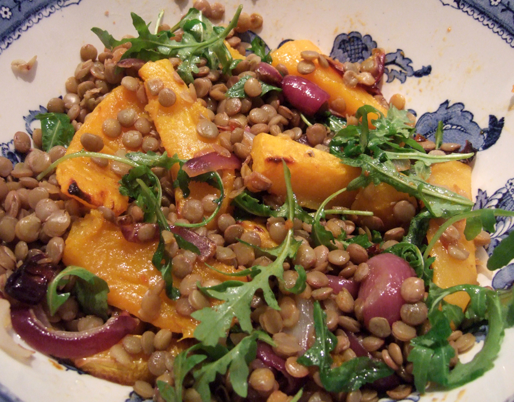 Roasted squash and harissa lentil salad - CookTogether
