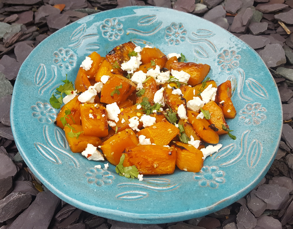 Sweet and spicy roasted squash