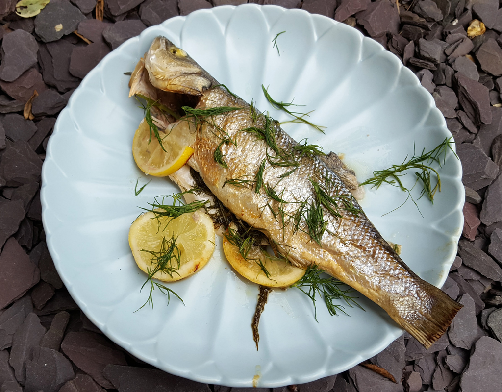 Zesty Baked Sea Bass